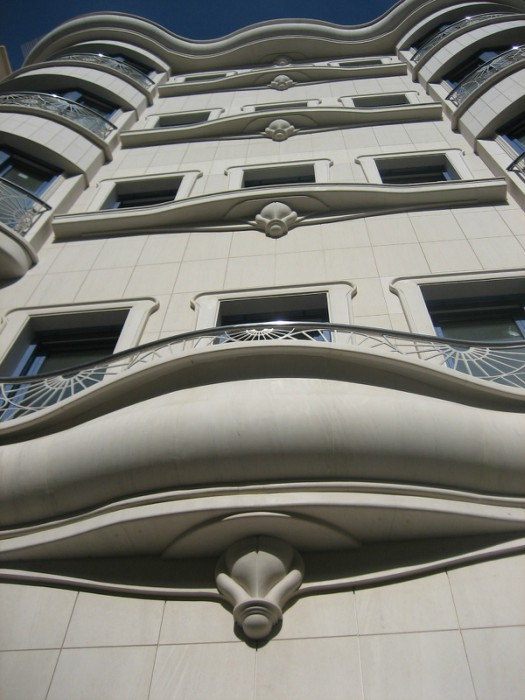 Facade, Limestone Grey, Alicante, Spain