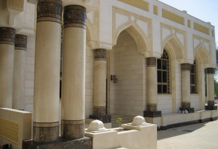 Marron Emperador & Crema Marfil. Mosque Alain, UAE.