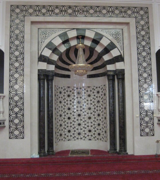 Marble Blanco Sivec & Black Absolute, Alain Mosque, UAE