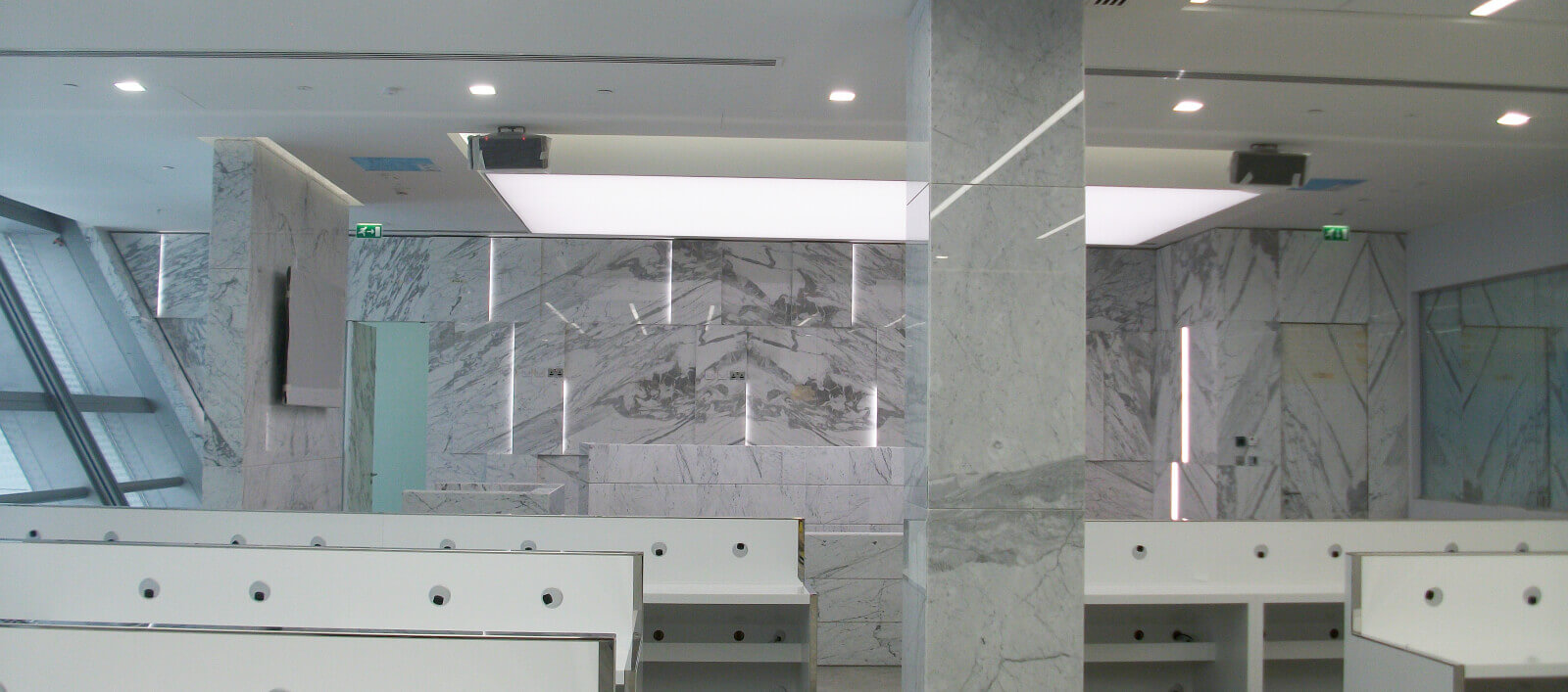 White Statuario Marble Cladding