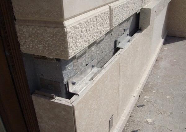Detalle anclaje instalación fachada ventilada