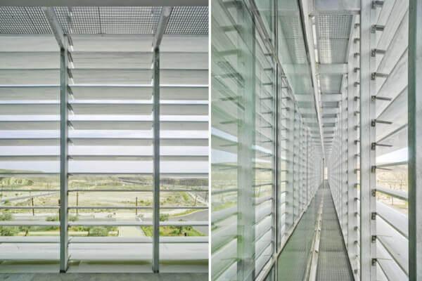 Uso innovador de lamas marmol en fachada