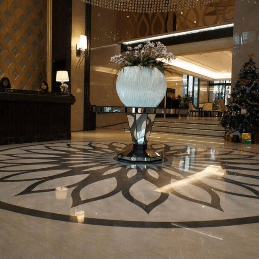 Suelo de Marmol Boticcino Royal, Turquia corte Waterjet