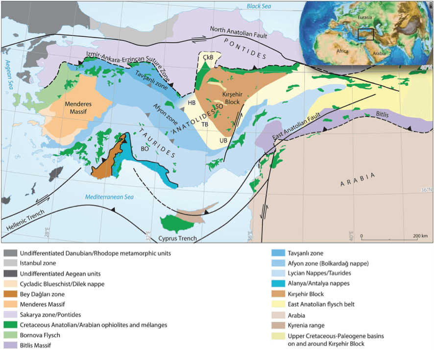 Localizacion geologica marmoles crema beige turquia