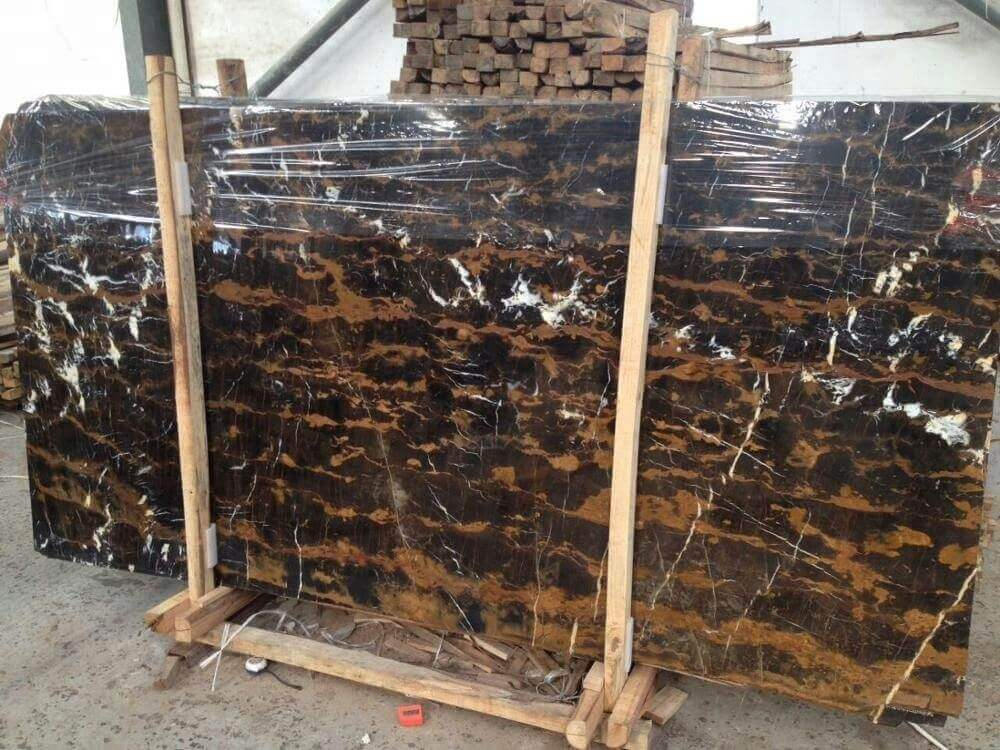 Black and Gold marble slab from pakistan