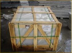 Sellado de cajon de marmol tras inspeccion de control de calidad