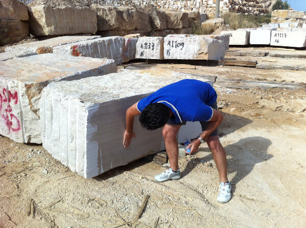 Quality control in quarry-block inspection