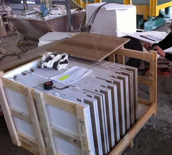 Inspección aleatoria - Control Calidad de losas de marmol