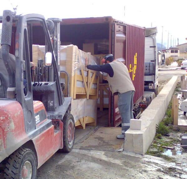 Control de Calidad durante carga en camion para envío