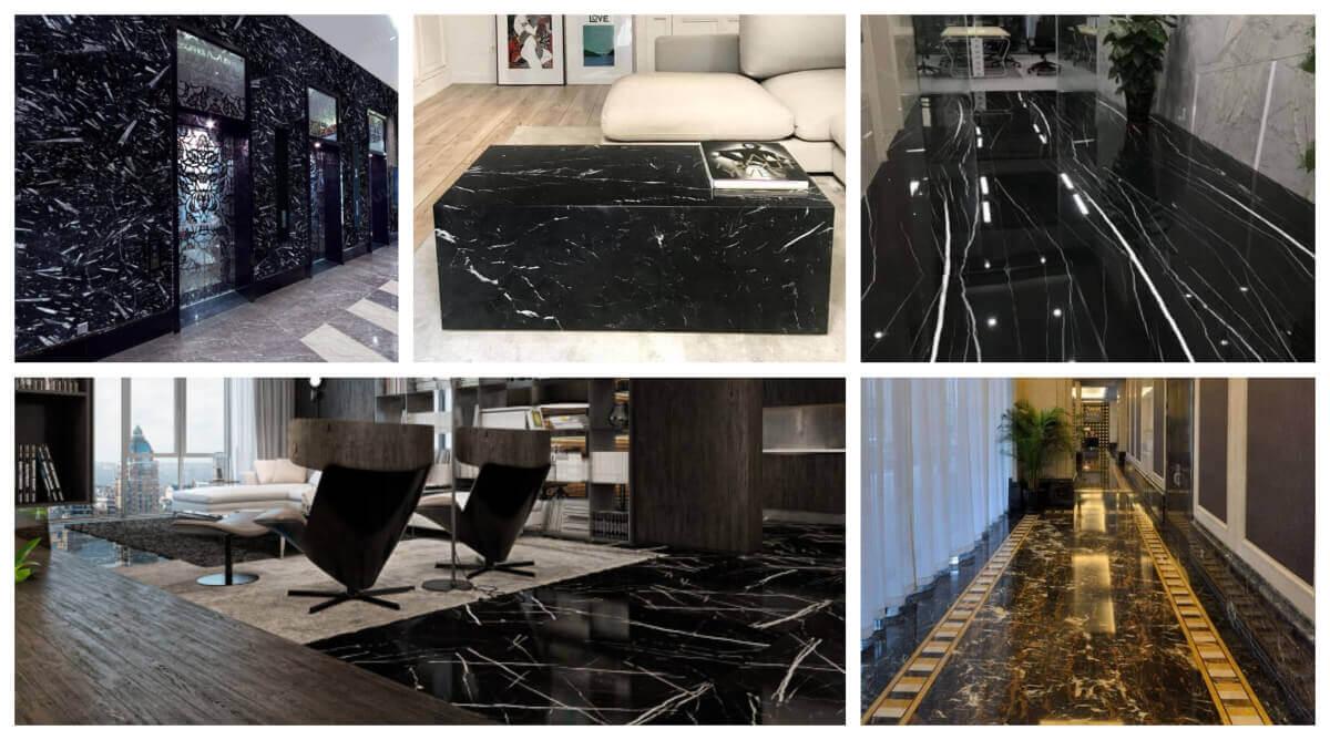 collage post tipos marmol negro