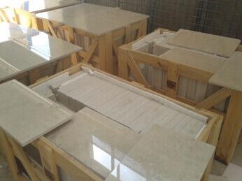 Inspeccion calidad marmol crema fabrica