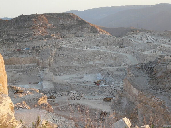White Macael quarries marble